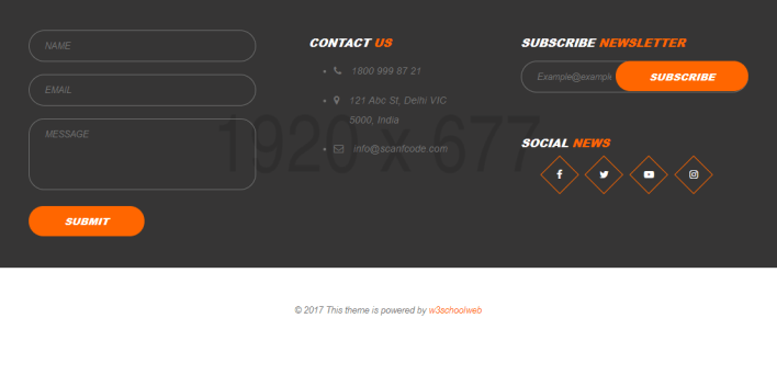 Footer example in CSS and bootstrap