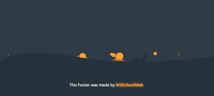How to create a CSS Gooey footer