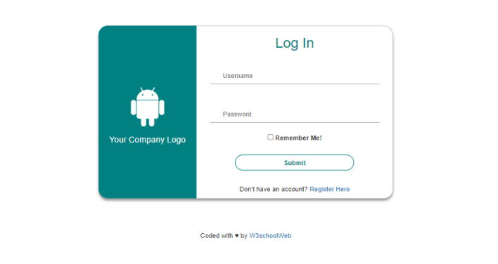 Bootstrap Login page 2