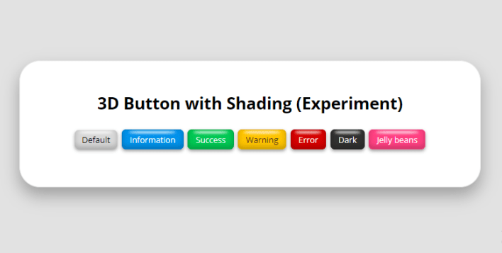 3D Button with Shading