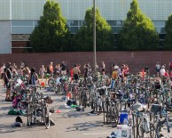 The bike transition area