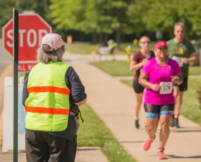 Theresa keeping the runners in sight