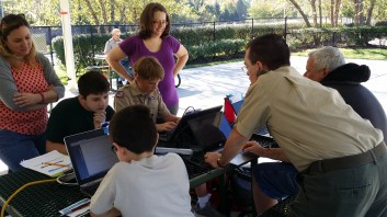 Scouts Participating in Jamboree On The Internet