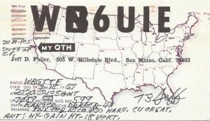 WB6UIE QSL card