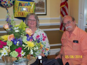 Theresa with Flower and husband