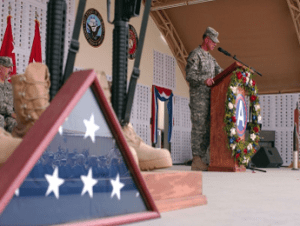 U.S. forces observe Memorial Day in Kuwait