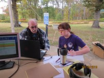 Scout works on radio merit badge using FT8