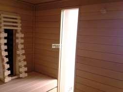 Integriertes Fenster in einer Kombisauna