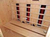 Wärmekabine mit Vitae Vollspektrum - Rotlichtstrahlern