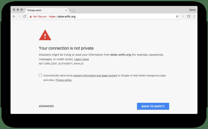 Cert-Error-not-private