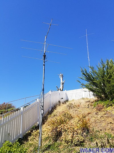 The HF9N with 160m, 6m and 2m antennas in 2018