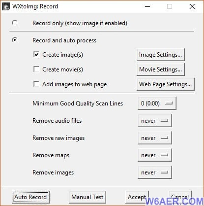WXtoImg Recording Options