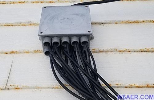 W6AER Antenna Farm distribution box