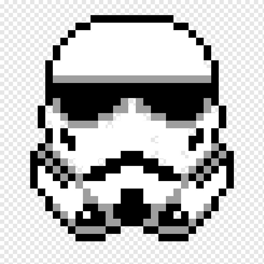 Star Wars Imperial Stormtrooper Mega Man Style Perler Beads By