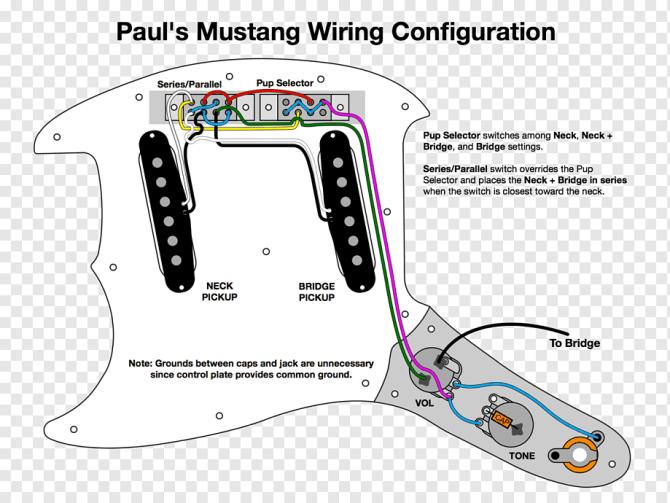 fender mustang wiring diagram fender jagstang pickup