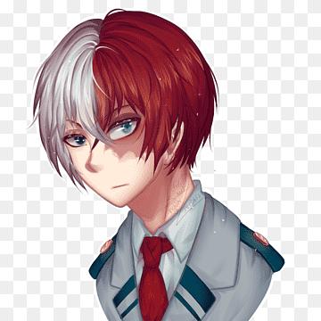 Anime My Hero Academia Kirito Yandere Simulator Art Shouto Todoroki Rambut Hitam Kepala Anak Laki Laki Png Pngwing