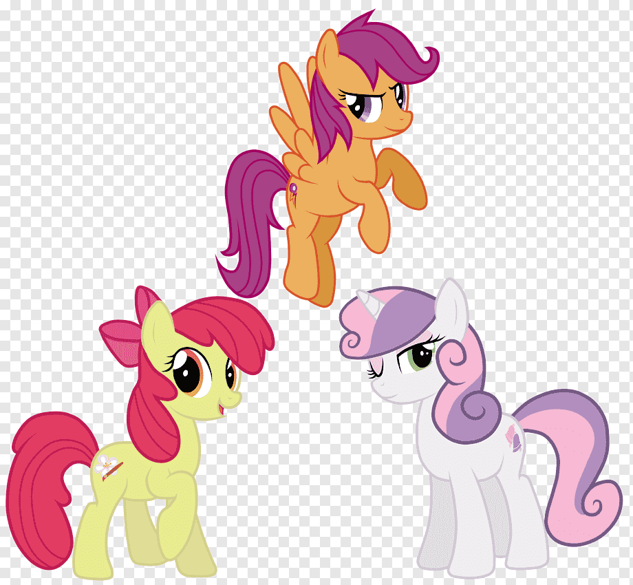 Apple Bloom Scootaloo Pony The Cutie Mark Crusaders Sweetie Belle My Little Pony Miscellaneous Mammal Vertebrate Png Pngwing