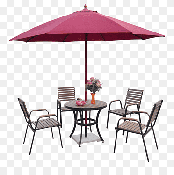 Table Chair Umbrella Garden Furniture Outdoor Umbrella Tables And Chairs Angle Furniture Landscape Png Pngwing