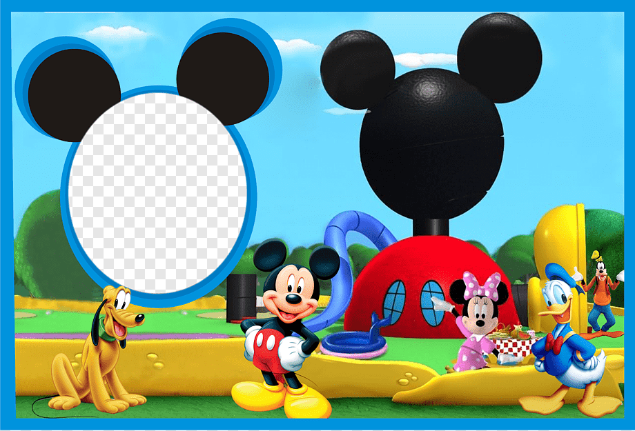 Mickey Mouse Clubhouse Graphic Mickey Mouse Minnie Mouse Graphy Montage Frames Mickey Mouse Television Heroes Balloon Png Pngwing