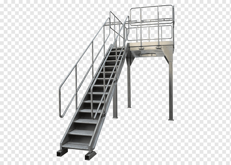 Handrail Stairs Stainless Steel Industry Stairs Ladder Steel   Stainless Handrails For Stairs   Toughened Glass   Outdoor   Mild Steel Handrail   Commercial Building   Metal