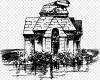 Sketsa Candi Prambanan Hitam Putih Candi Monokrom Kartun Agama