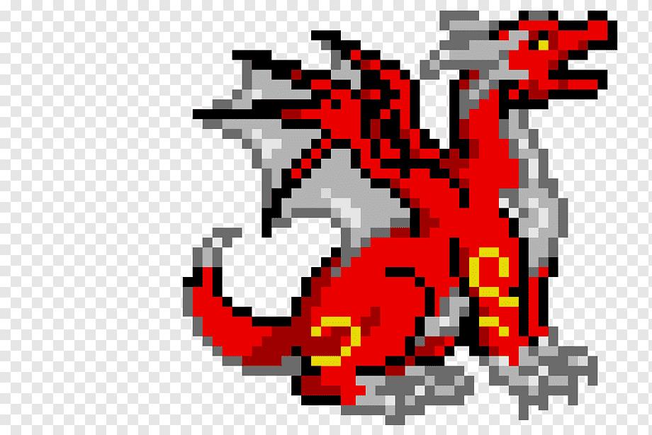 Pixel Art Dragon Drawing Pixel Naga Teks Fotografi Png Pngwing