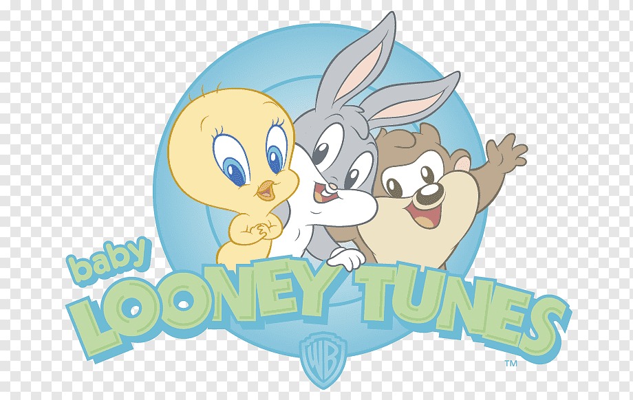 Baby Looney Tunes Tweety Bugs Bunny Sylvester Porky Pig Daffy Duck Baby Looney Tunes Characters Child Mammal Text Png Pngwing