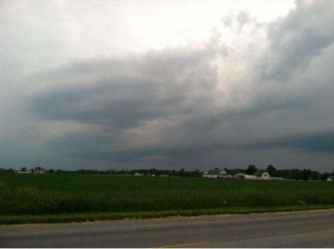 W9LW's photo of the storm that prompted a tornado warning in northern Allen County June 12, 2013