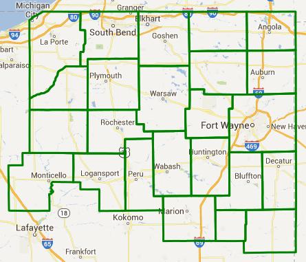 Flash flood watch map