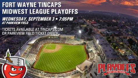 Tincaps playoff game graphic