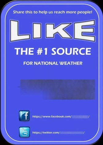 Amateur-run Facebook pages should not mislead readers into believing that their information is better than that of the National Weather Service