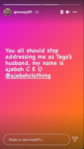 Tega BBNaija Husband Instagram