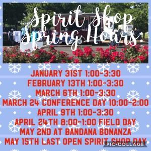 WA Spirit Shop Spring Hours