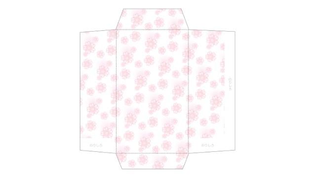ゆるりふんわり。桜柄のポチ袋