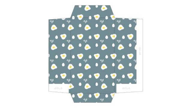 めずらしい、卵と目玉焼き柄のポチ袋