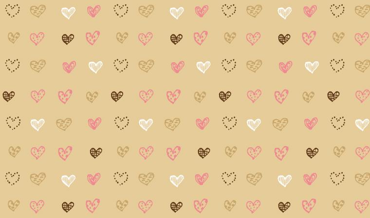 ドキドキ!シンプルな配色のハート柄の包装紙