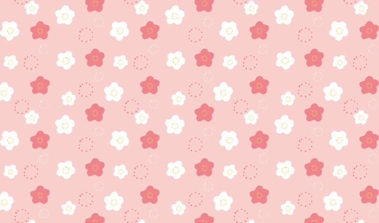 ゆるゆるラインがかわいい☆花柄の包装紙