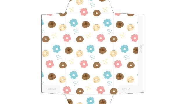 カラフルドーナツ柄のポチ袋
