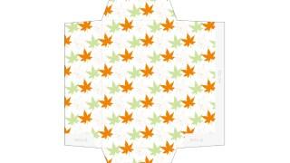 和風の紅葉柄のポチ袋