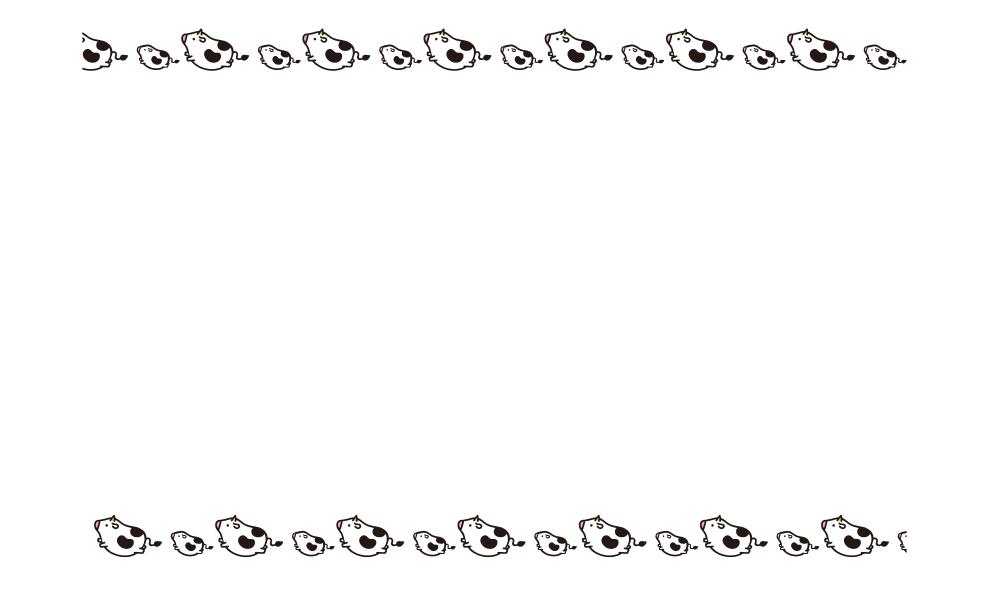 かわいい牛の親子ののし紙