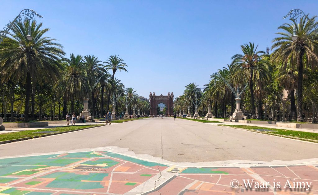 Waar is Aimy - Arc de Triomf