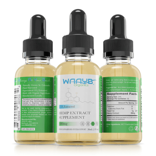 All Natural Flavorless CBD Oil by WAAYB Organics
