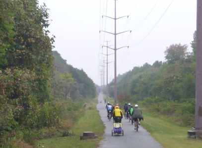 Rail Trails are straight, flat and delightful!
