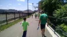 Nic and Trail Ranger Jason walk up the MBT