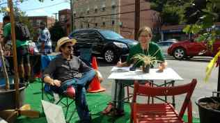 Hanging out at the Park(ing) Day on Minnesota Ave