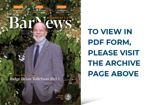 Thumbnail of the October 2021 issue of Bar News