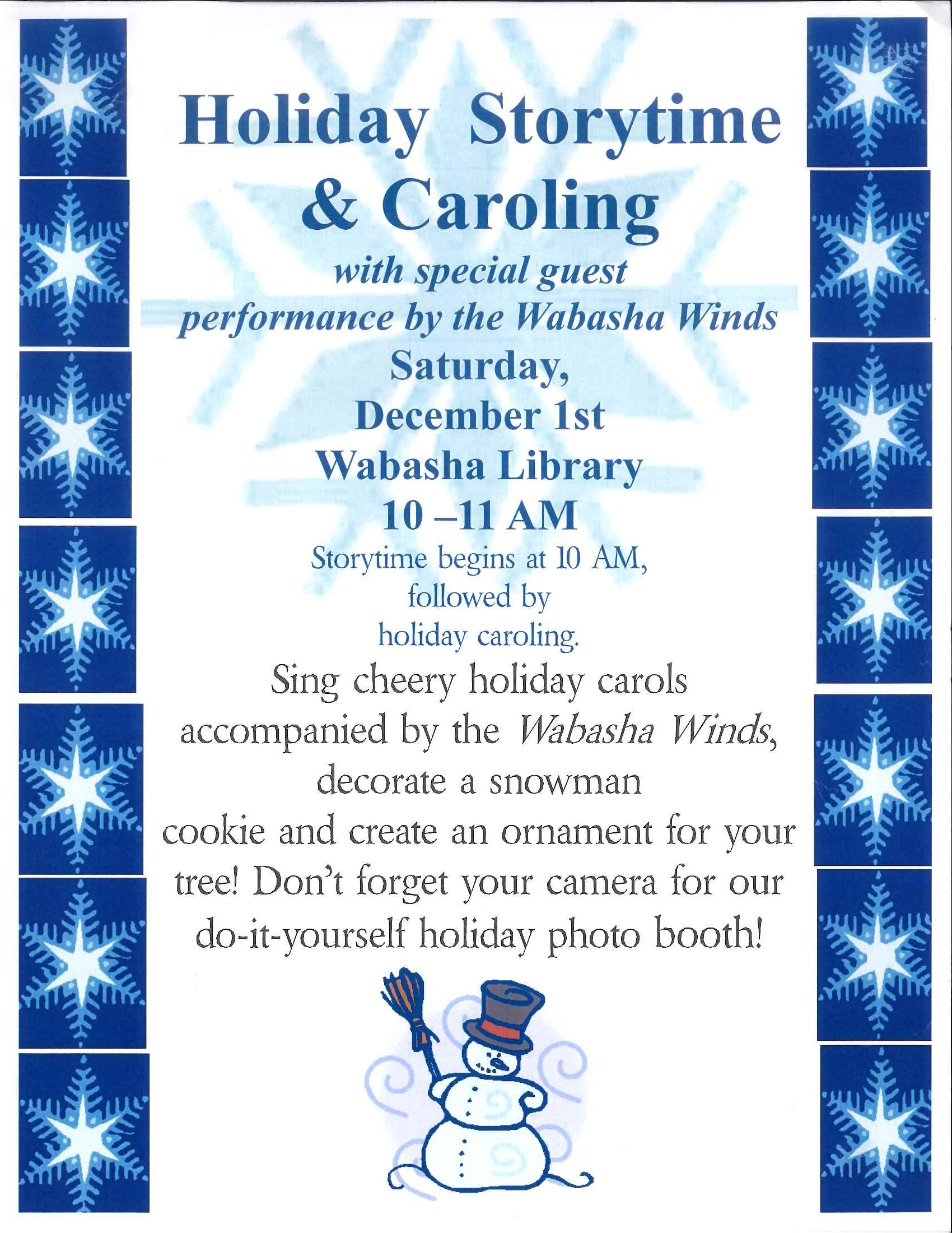 Holiday Storytime Sat Dec 1st At 10 A M Wabasha Public Library