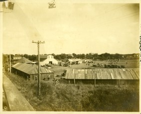 From the Bat Nelson Collection, this view from the viaduct overlooks the 1923 Alta Vista Community Fair.