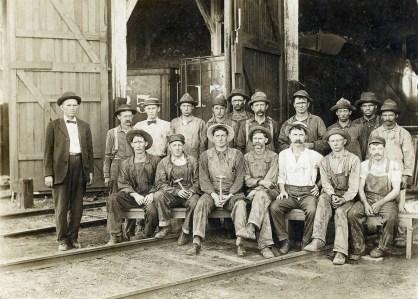 Chicago, Rock Island & Pacific Railroad Roundhouse Gang, McFarland, Kansas - c.1910