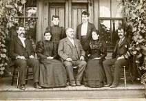 John Winkler and Children at the Denver House, McFarland, Kansas